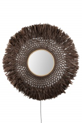 Wall Boho Mirror Brown