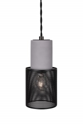 Pendant Mini Rumble Concrete / Black
