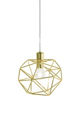 Pendant Mini Diamond Brass