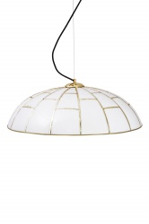 Pendant Ombrello Brass/White