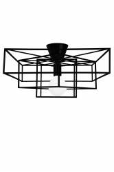 Ceiling lamp Matt Black Cube
