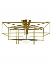 Ceiling lamp Cube Brass