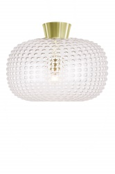 Ceiling lamp Spring Clear / Brass