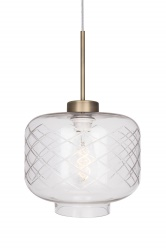 Pendant Ritz Clear with cut glass
