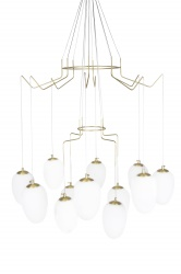 Pendant Divine 12 Brushed  Brass