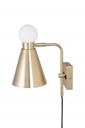 Wall Ludo Brushed Brass/White