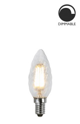 Light Source E14 LED Filament 352-06 Crown Twisted Clear 3,2W