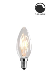Light Source E14 LED Soft Filament Crown Clear 3W