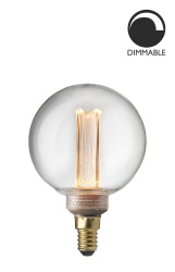 Light Laser LED Filament dimmable clear Glob 80
