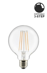 Light Source E27 LED 3-step dim Globe 100 0,4-7W