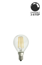 Light Source E14 LED 3-step dim Clear 0,4-5W