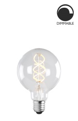 Light Source E27 LED Soft Filament Globe 100 mm Clear 5W