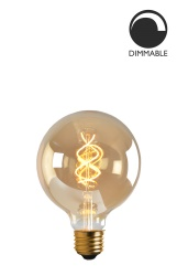 Light Source E27 LED Soft Filament Globe 100 mm Gold 5W