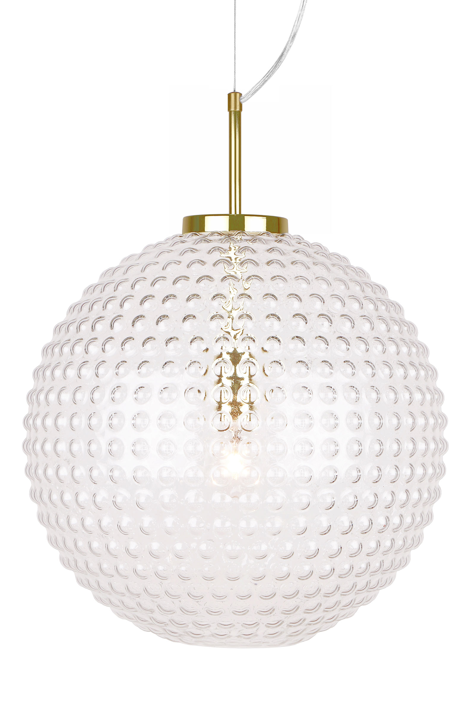 clear optic pendant with ribbed light glass lantern brass antique