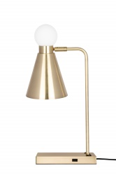 Table Ludo Brushed Brass/White