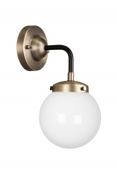 Wall lamp Alley 4 IP44 Antique Brass/White